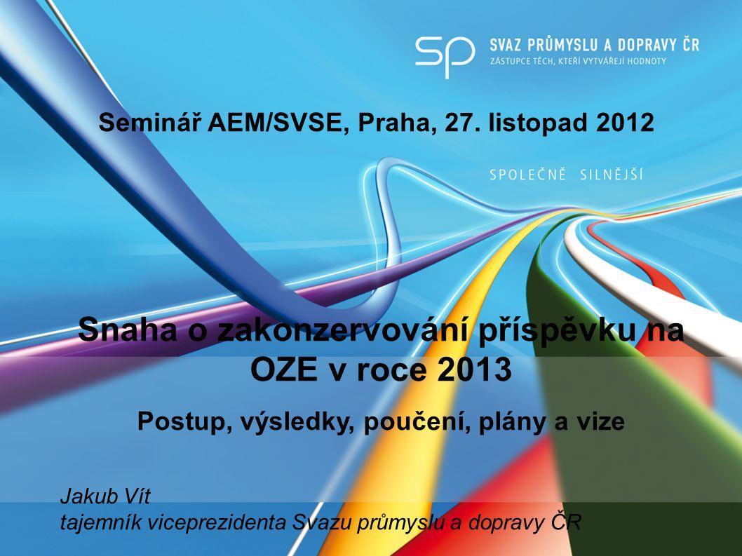 Seminář AEM/SVSE, Praha, 27.