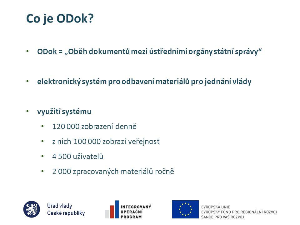 Úřad vlády České republiky Co je ODok.