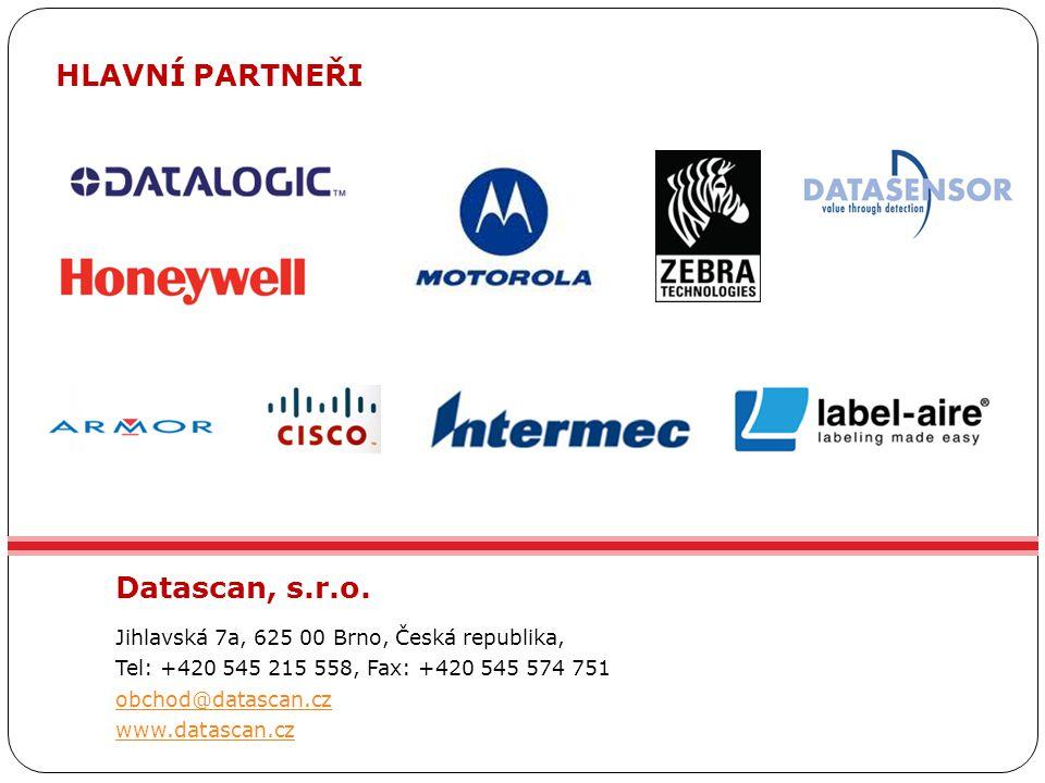Datascan, s.r.o. Jihlavská 7a, 625 00 Brno, Česká republika, Tel: +420 545 215 558, Fax: +420 545 574 751 obchod@datascan.cz www.datascan.cz HLAVNÍ PA