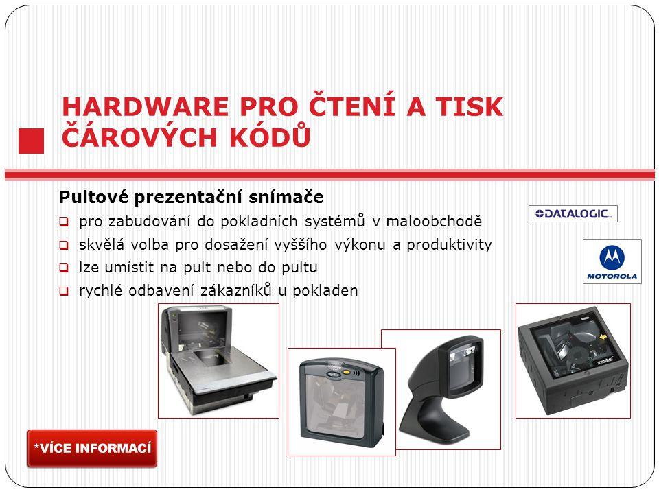 HARDWARE PRO ČTENÍ A TISK ČÁROVÝCH KÓDŮ Pultové prezentační snímače  pro zabudování do pokladních systémů v maloobchodě  skvělá volba pro dosažení v
