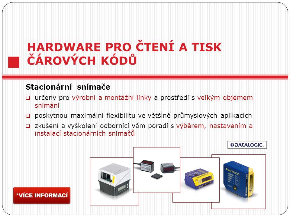 Stacionární snímače  určeny pro výrobní a montážní linky a prostředí s velkým objemem snímání  poskytnou maximální flexibilitu ve většině průmyslový