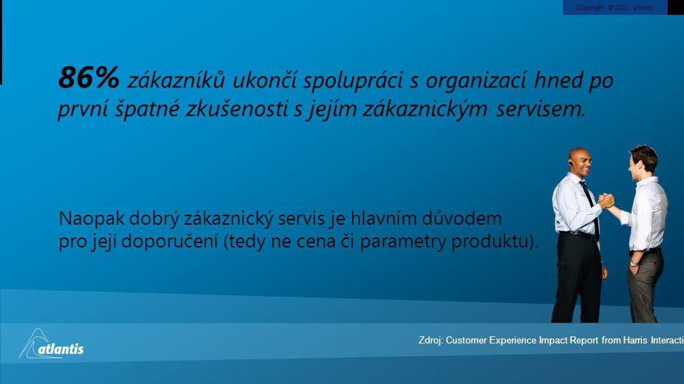 Copyright © 2011, atlantis Naopak dobrý zákaznický servis je hlavním důvodem pro její doporučení (tedy ne cena či parametry produktu). 86% zákazníků u