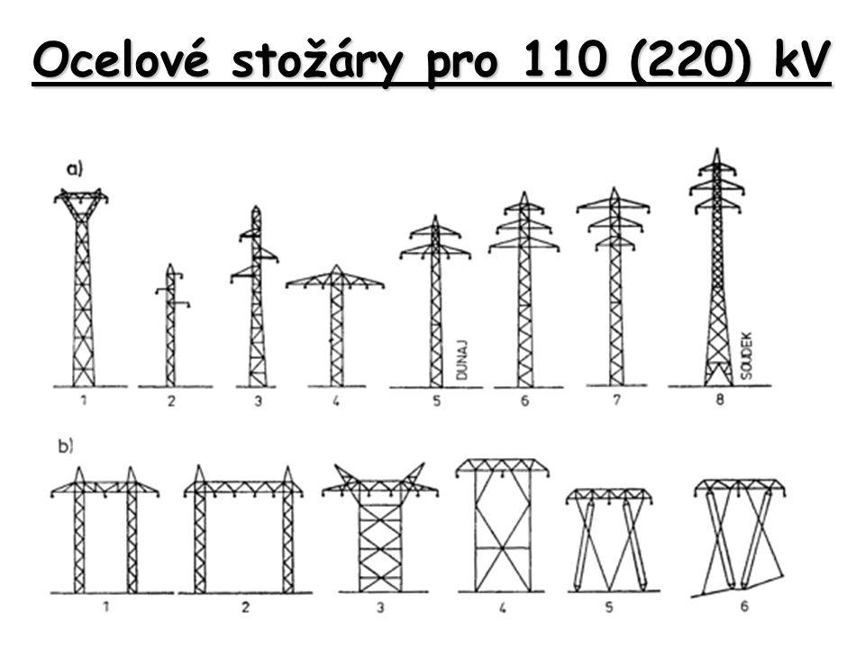 Ocelové stožáry pro 110 (220) kV