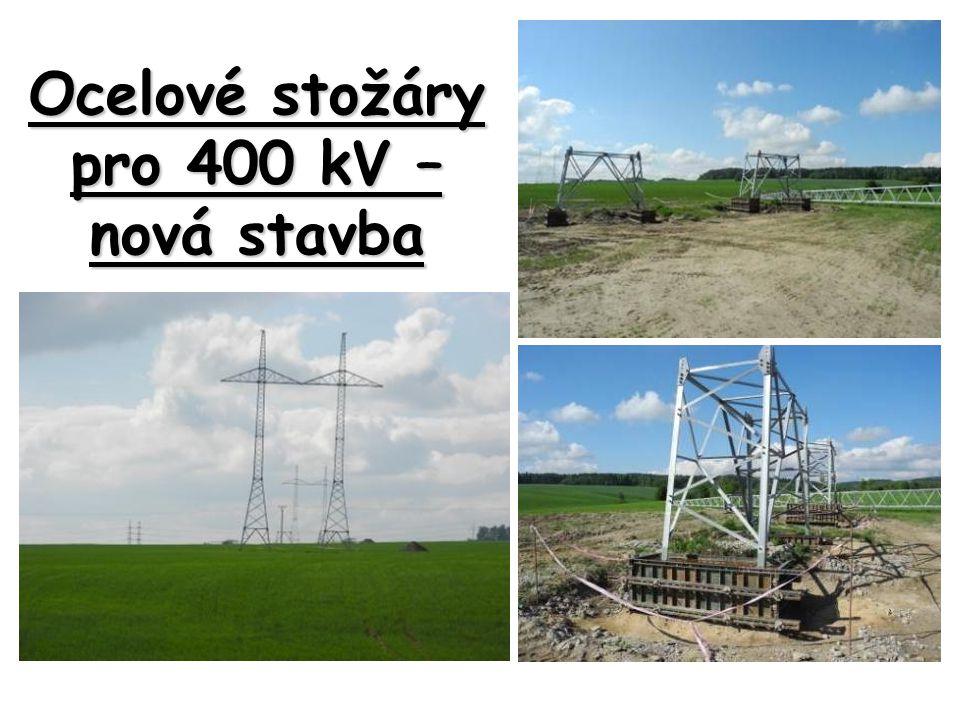 Ocelové stožáry pro 400 kV – nová stavba