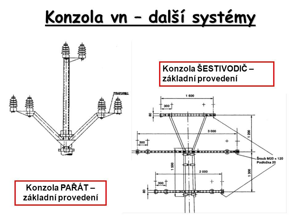 Konzola vn – další systémy Konzola PAŘÁT – základní provedení Konzola ŠESTIVODIČ – základní provedení