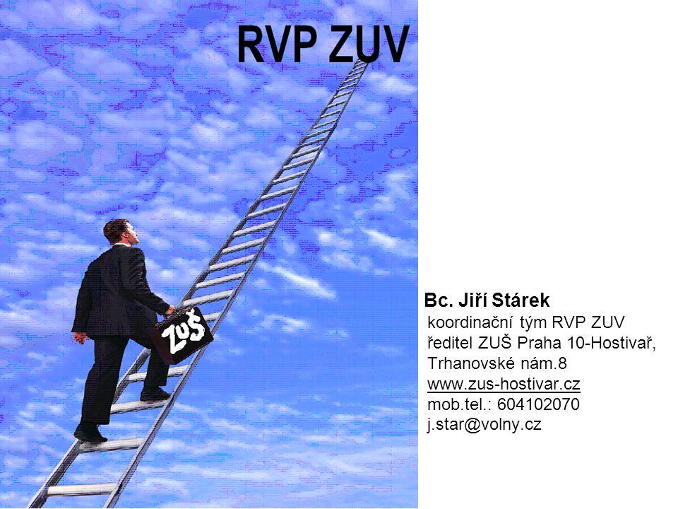Bc. Jiří Stárek koordinační tým RVP ZUV ředitel ZUŠ Praha 10-Hostivař, Trhanovské nám.8 www.zus-hostivar.cz mob.tel.: 604102070 j.star@volny.cz