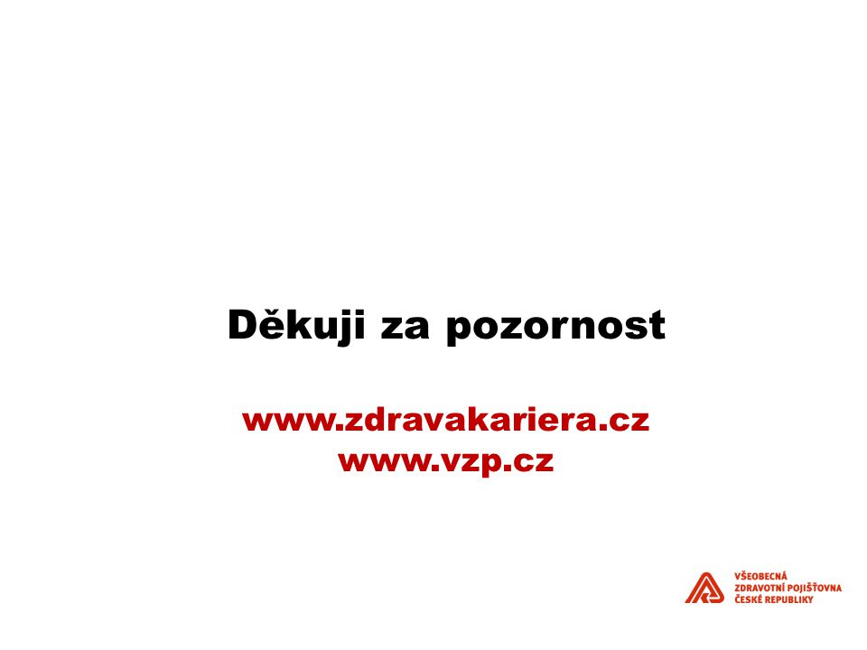 Děkuji za pozornost www.zdravakariera.cz www.vzp.cz