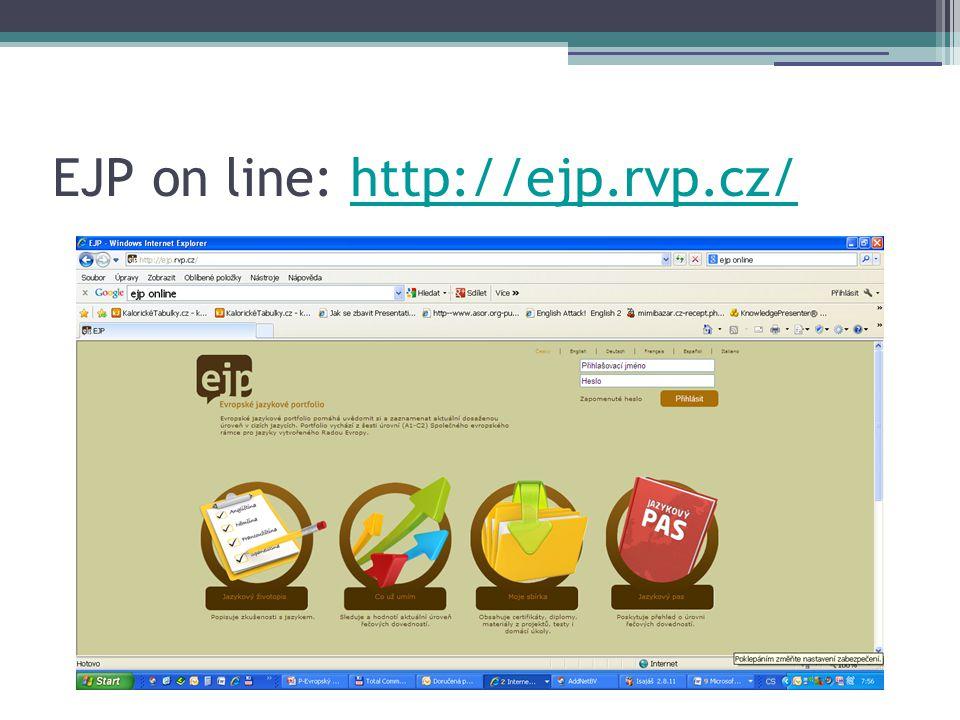 EJP on line: http://ejp.rvp.cz/http://ejp.rvp.cz/