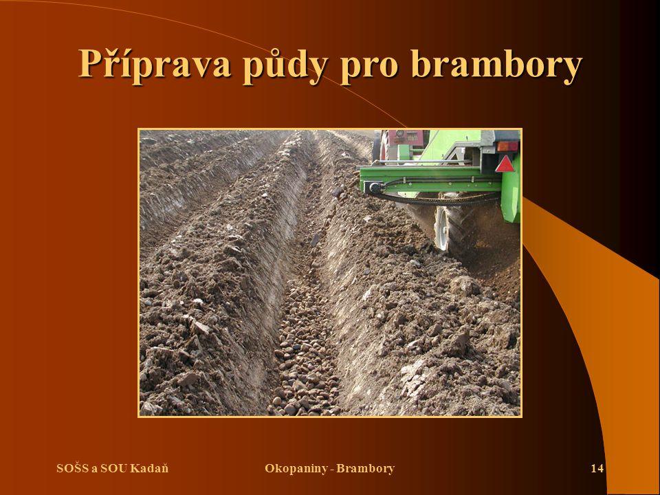 SOŠS a SOU KadaňOkopaniny - Brambory14 Příprava půdy pro brambory