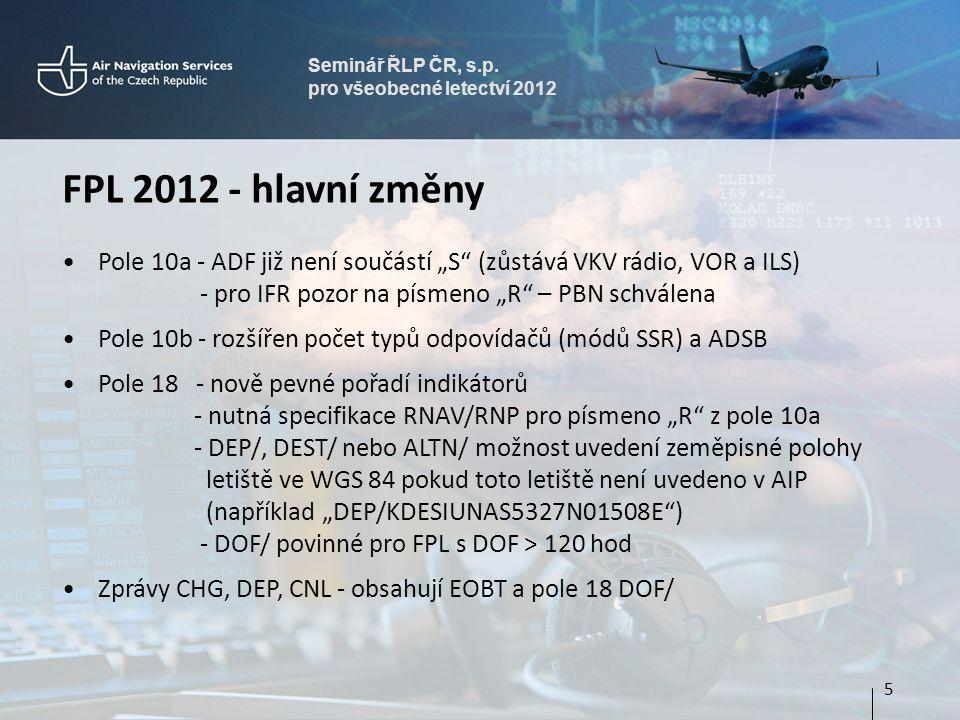 Seminář ŘLP ČR, s.p. pro všeobecné letectví 2012 16