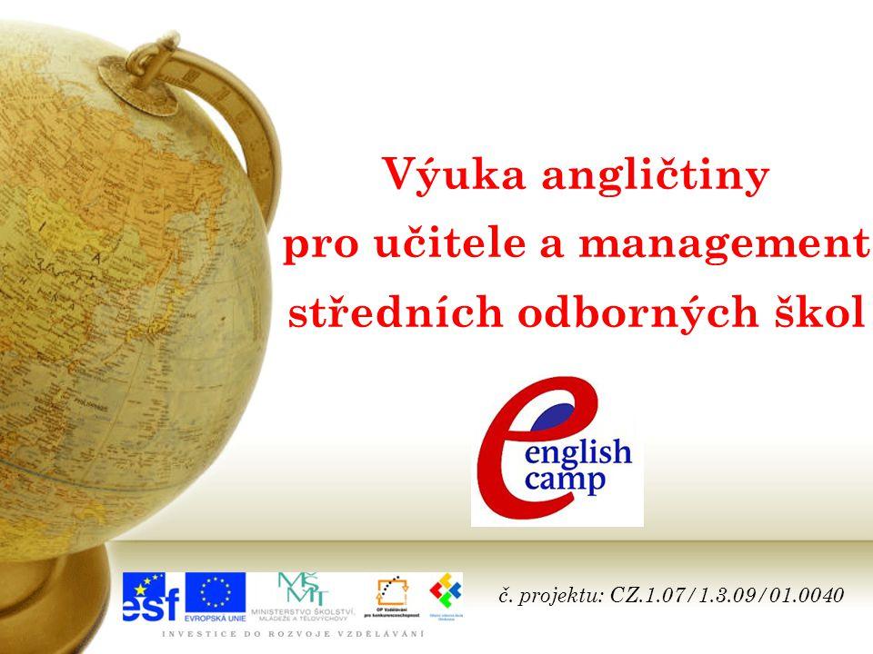 Výuka angličtiny pro učitele a management středních odborných škol č.