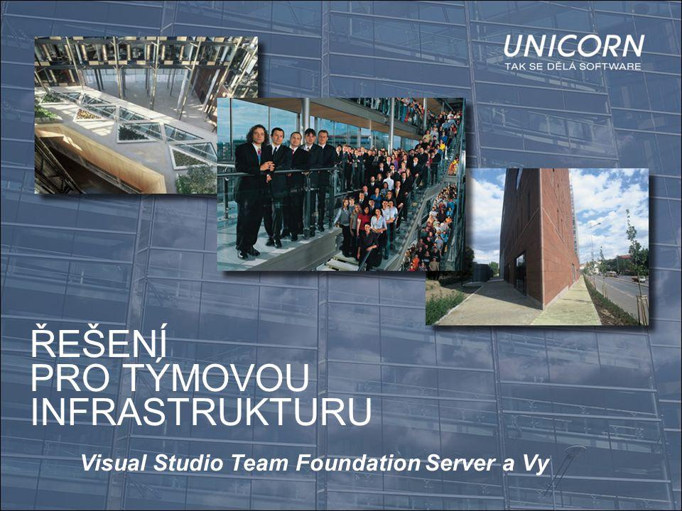 ŘEŠENÍ PRO TÝMOVOU INFRASTRUKTURU Visual Studio Team Foundation Server a Vy