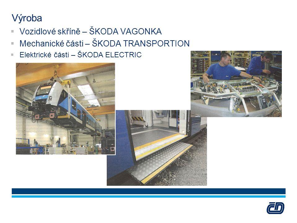 Výroba  Vozidlové skříně – ŠKODA VAGONKA  Mechanické části – ŠKODA TRANSPORTION  Elektrické části – ŠKODA ELECTRIC