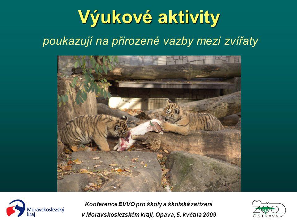 Konference EVVO pro školy a školská zařízení v Moravskoslezském kraji, Opava, 5. května 2009 Výukové aktivity Výukové aktivity poukazují na přirozené