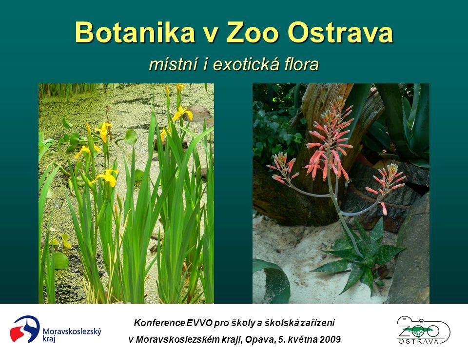 Botanika v Zoo Ostrava místní i exotická flora Konference EVVO pro školy a školská zařízení v Moravskoslezském kraji, Opava, 5. května 2009