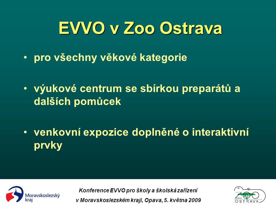 EVVO v Zoo Ostrava EVVO v Zoo Ostrava Konference EVVO pro školy a školská zařízení v Moravskoslezském kraji, Opava, 5. května 2009 •pro všechny věkové