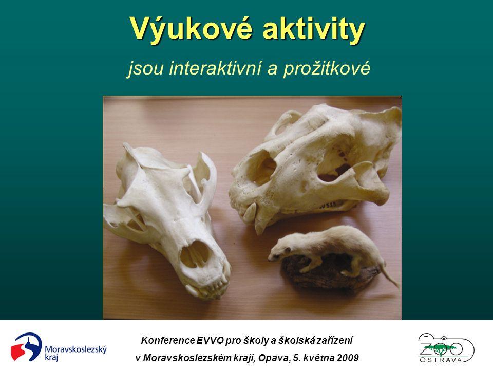 Konference EVVO pro školy a školská zařízení v Moravskoslezském kraji, Opava, 5. května 2009 Výukové aktivity Výukové aktivity jsou interaktivní a pro