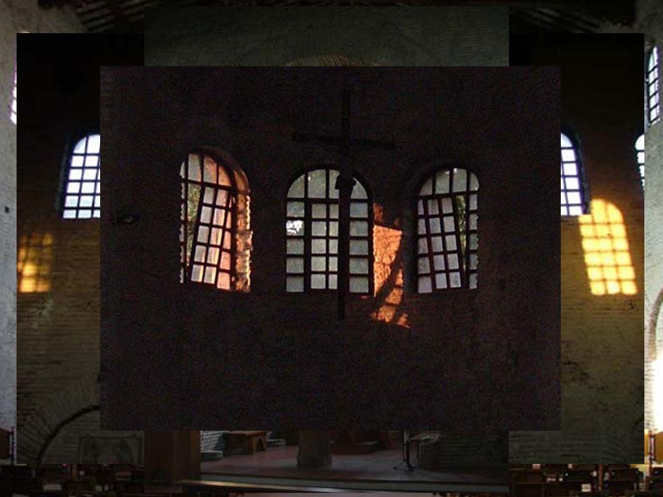"""""""Architektura: Zjevení světla"""" Kostel ze 6. století, Santarcangelo di Romagna Studie vytvořená ve spolupráci s mladými architekty z Rimini Emmanuele M"""