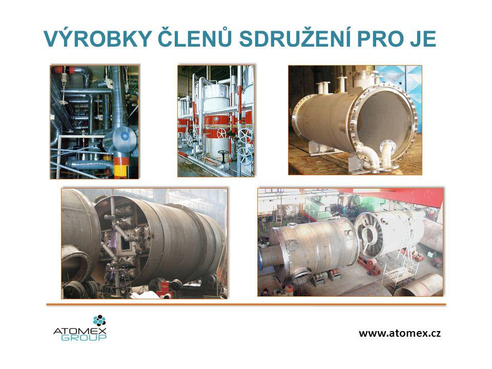 VÝROBKY ČLENŮ SDRUŽENÍ PRO JE www.atomex.cz