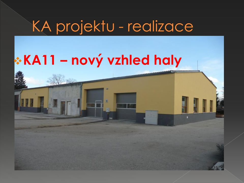  KA11 – nový vzhled haly