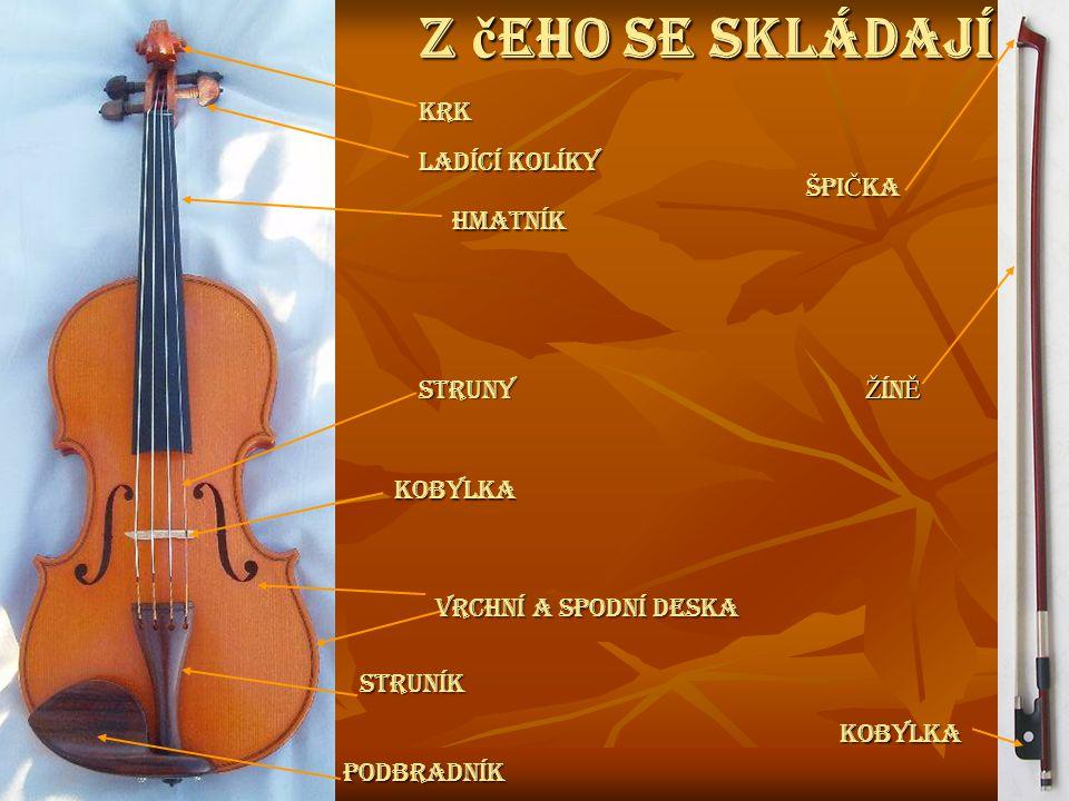 Předchůdcem houslí je středověká rubeba (rebec, rebeka), nástupce arabského rabábu, fidéla a jí příbuzná lira da braccio.