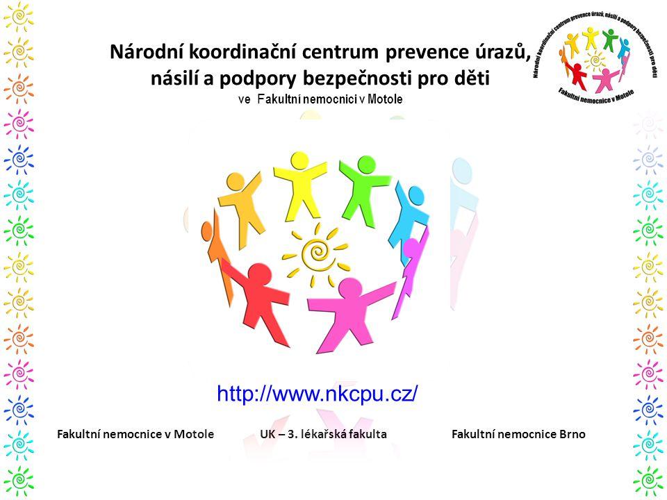 Národní koordinační centrum prevence úrazů, násilí a podpory bezpečnosti pro děti ve F akultní nemocnici v Motole Fakultní nemocnice v Motole UK – 3.