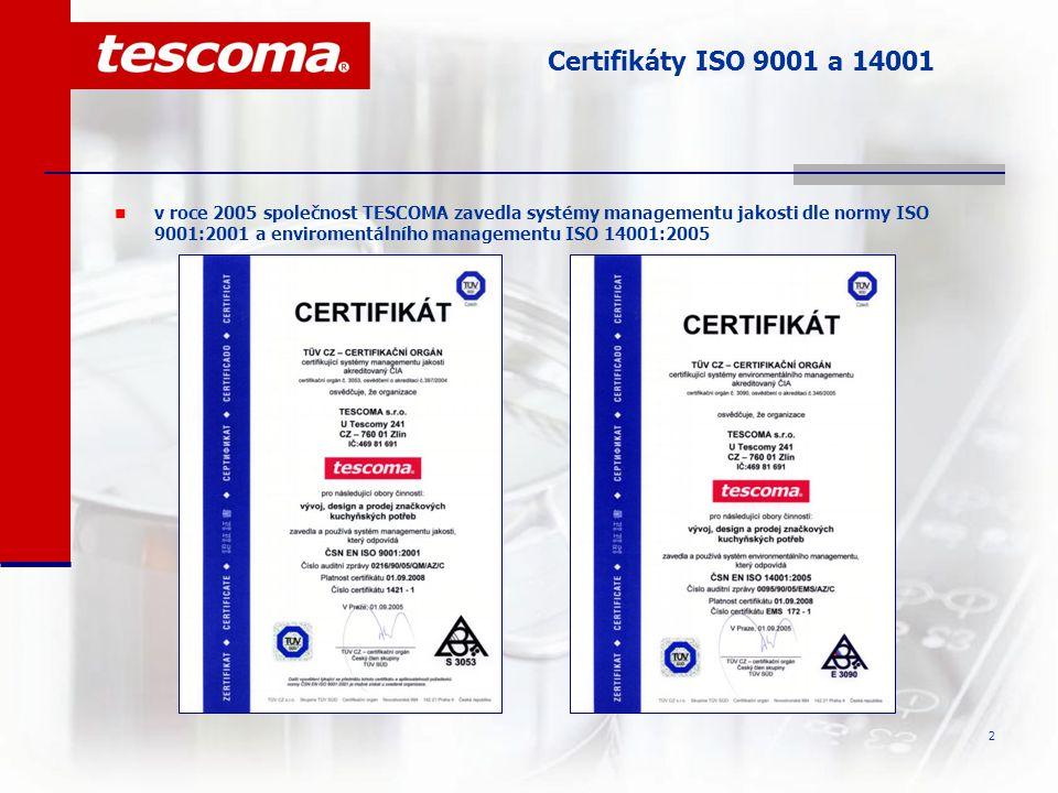 3 Oddělení vývoje a designu Veškeré produkty se značkou TESCOMA vznikají ve firemním DESIGN centru a nesou pečeť originální a chráněné značky Jednotlivé fáze vývoje výrobku