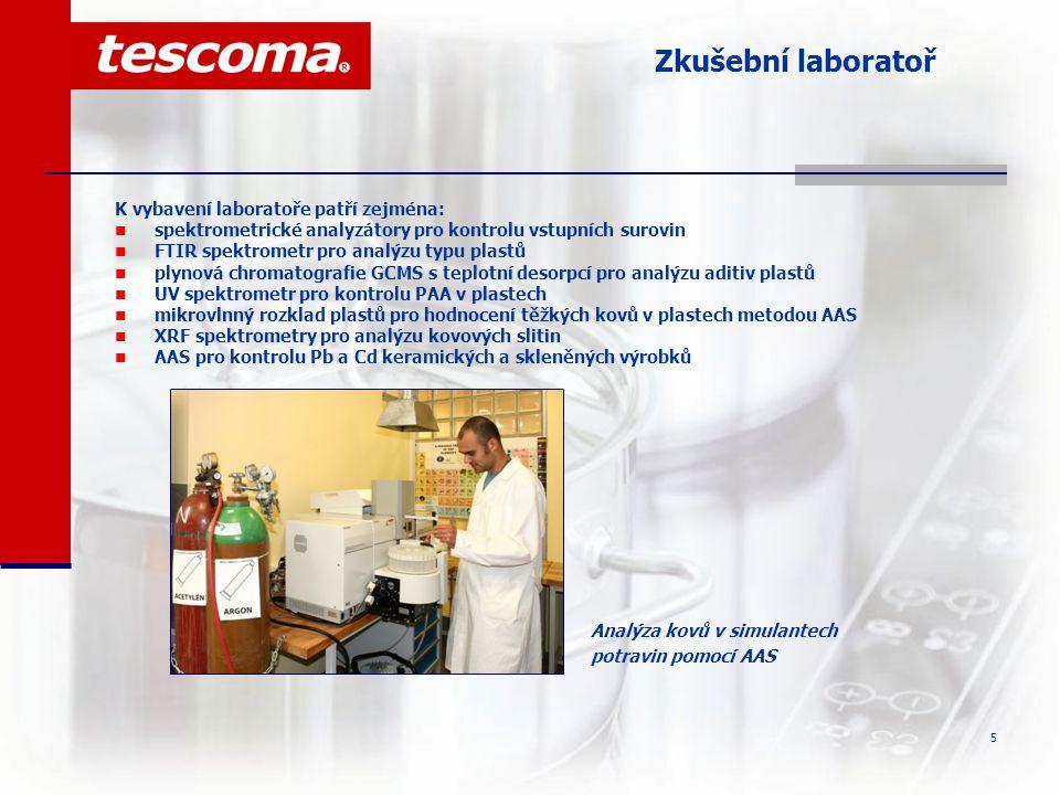 6 Zkušební laboratoř  v červnu 2006 byl ve spolupráci s ITC, a.s.