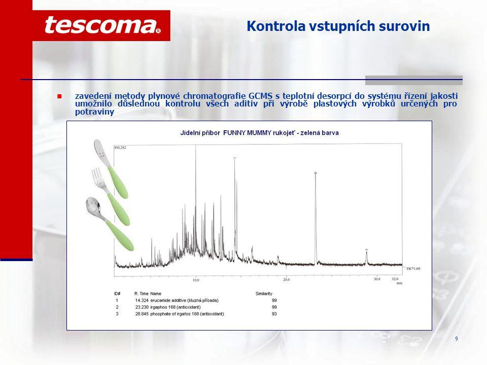 10 Sledovatelnost výrobků  od června 2006 je pro výrobky TESCOMA používán systém číslování výrobních šarží (PLM) dle požadavku Nařízení ES č.