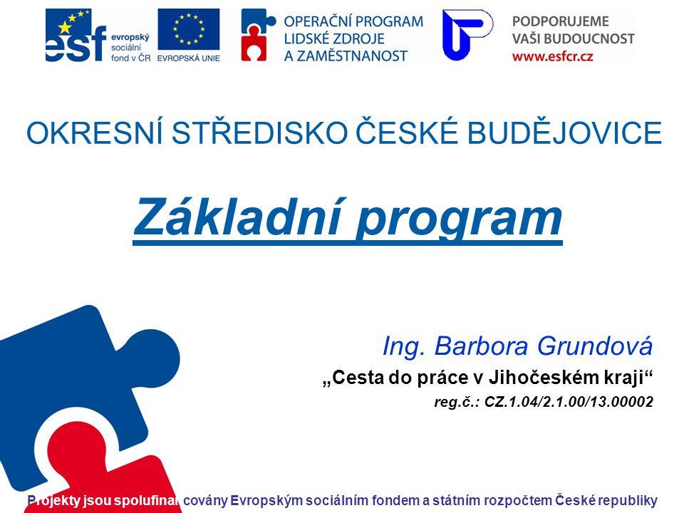 OKRESNÍ STŘEDISKO ČESKÉ BUDĚJOVICE Základní program Ing.