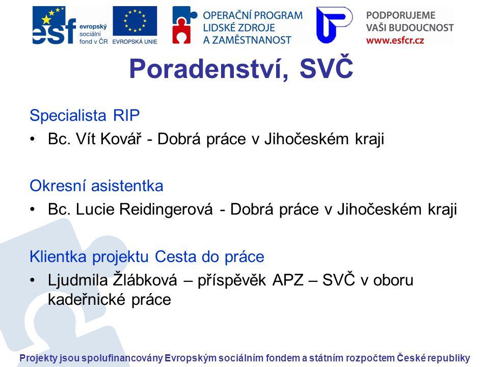 Poradenství, SVČ Specialista RIP •Bc.
