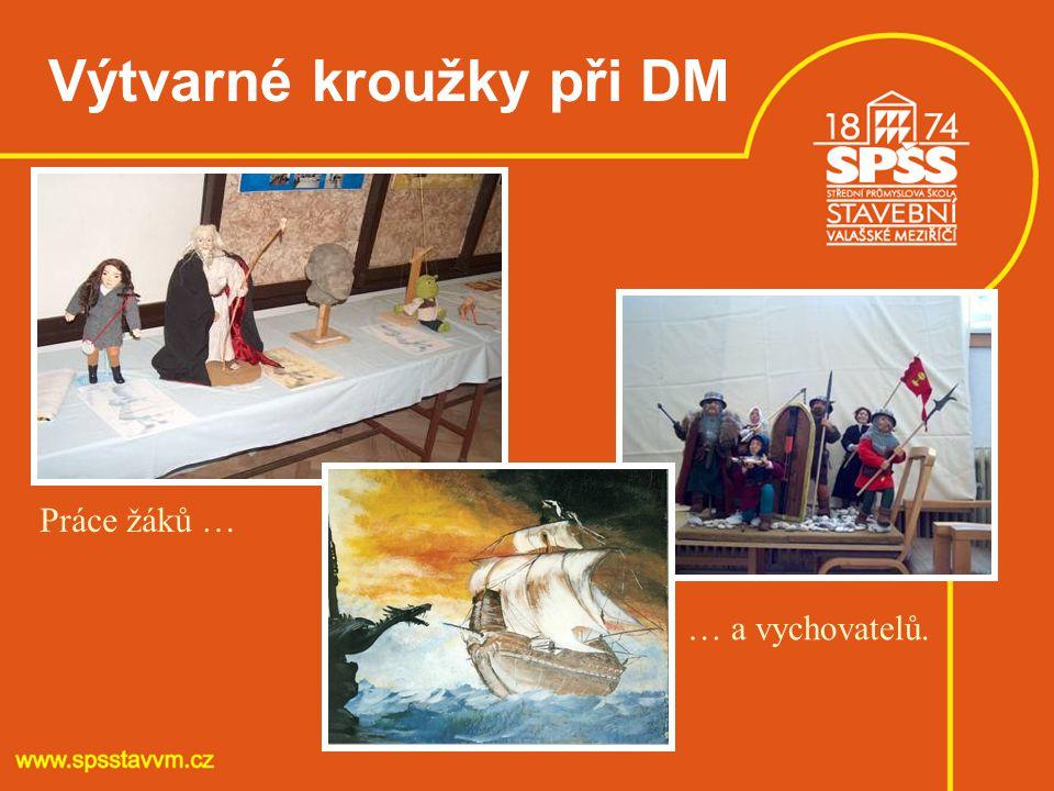 Výtvarné kroužky při DM Práce žáků … … a vychovatelů.