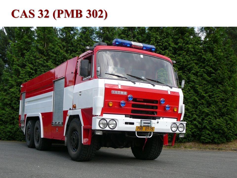 Technické vybavení •CAS 32 T815 6x6 (PMB 302) –vozidlo bylo rekonstruováno v roce 2009, –je určeno pro přepravu družstva 1+3, –9000 litrů vody, 80 litrů pěnidla, –je mj.