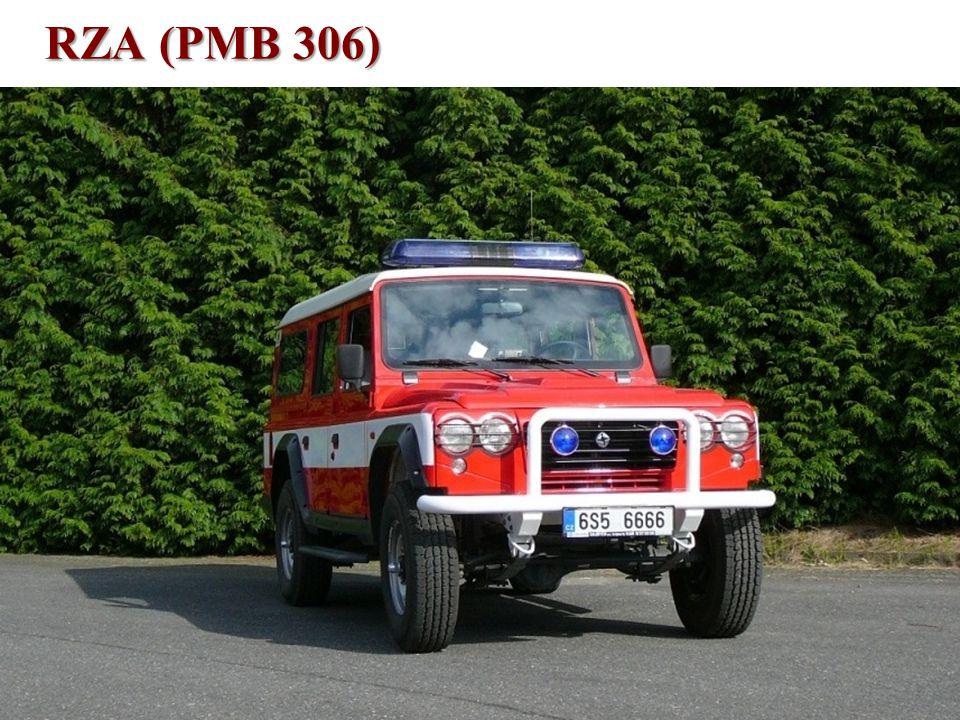 Technické vybavení •RZA Santana typ PS10 (PMB 306) –vozidlo bylo zakoupeno nové v roce 2006, –osádka 1+2, po vyjmutí výbavy 1+8, –vysokotlaké (20 MPa) hasicí zařízení Oertzen HDL 200, –134 litrů vody, 5 litrů pěnidla Pyrocool B, –kompletní sada (3 nástroje a příslušenství) hydraulického vyprošťovacího zařízení značky Narimex, –je mj.