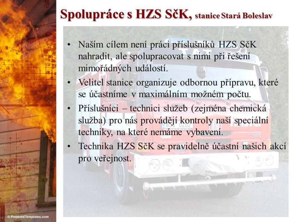 Spolupráce s MěÚ Brandýs n/L – Stará Boleslav •Jsme dlouhodobě podporováni vedením města i útvarem krizového řízení.