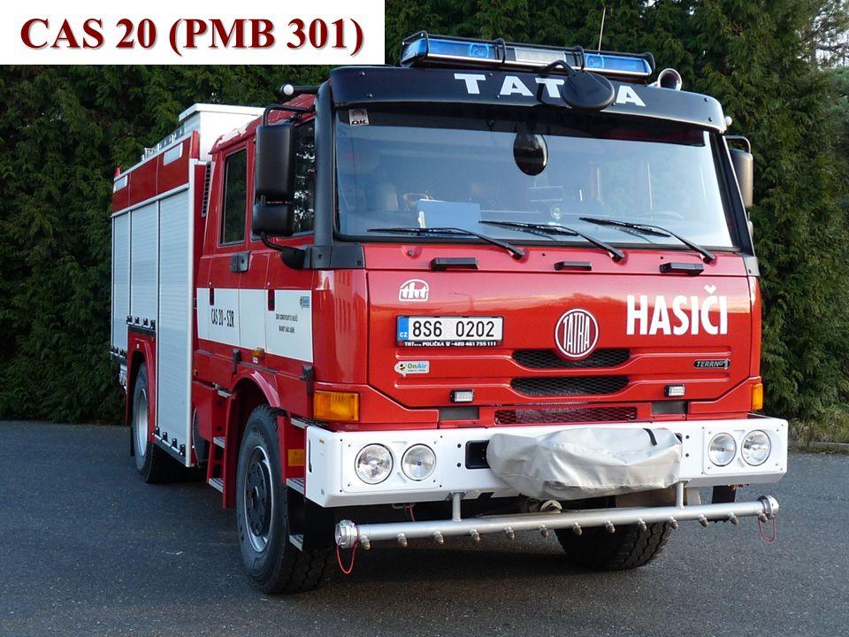 Technické vybavení •CAS 20 T815 TerrN°1 4x4 (PMB 301) –vozidlo bylo pořízeno nové v roce 2010, – je určeno pro přepravu družstva 1+5, –3400 litrů vody, 210 litrů pěnidla, –splňuje podmínky vyhlášky 53/2010 Sb.