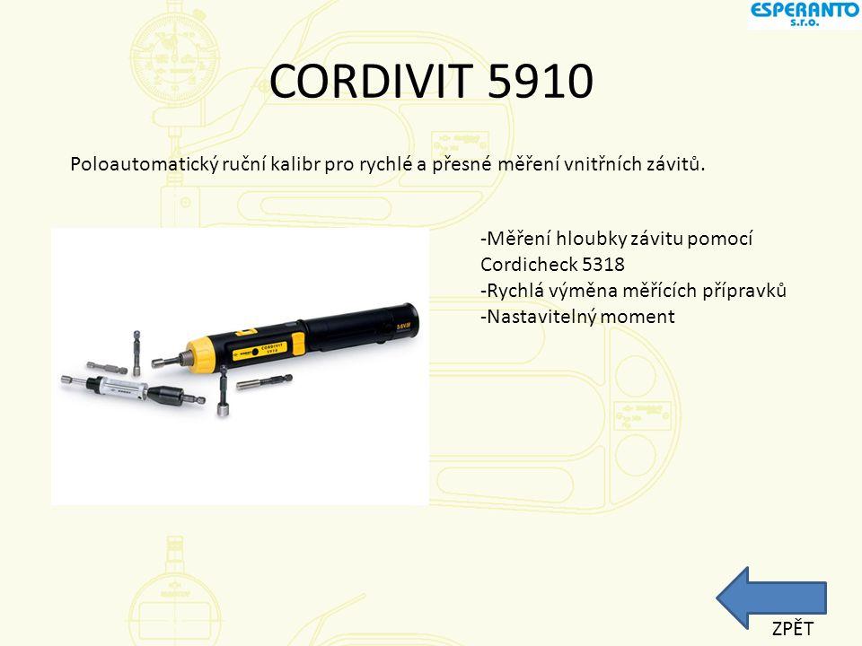CORDAMETR Vysoce přené měřidlo s velkou paralelní rovinou měřící plochy až do 800mm.