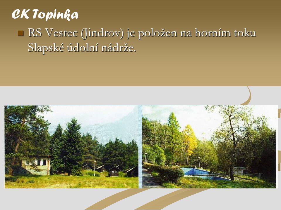  RS Vestec (Jindrov) je položen na horním toku Slapské údolní nádrže. CK Topinka