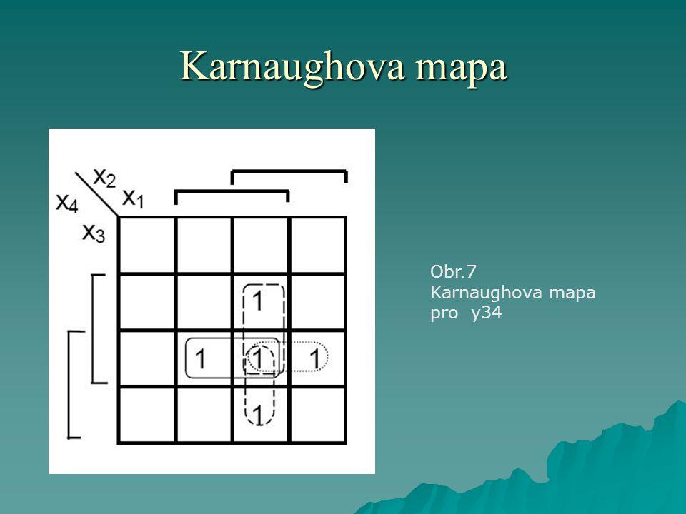 Karnaughova mapa Obr.7 Karnaughova mapa pro y34