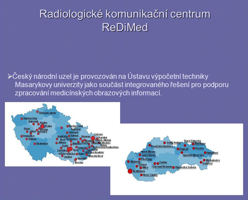   Český národní uzel je provozován na Ústavu výpočetní techniky Masarykovy univerzity jako součást integrovaného řešení pro podporu zpracování medicínských obrazových informací.