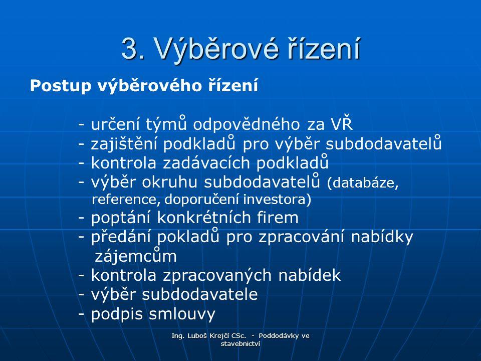 Ing.Luboš Krejčí CSc. - Poddodávky ve stavebnictví 3.