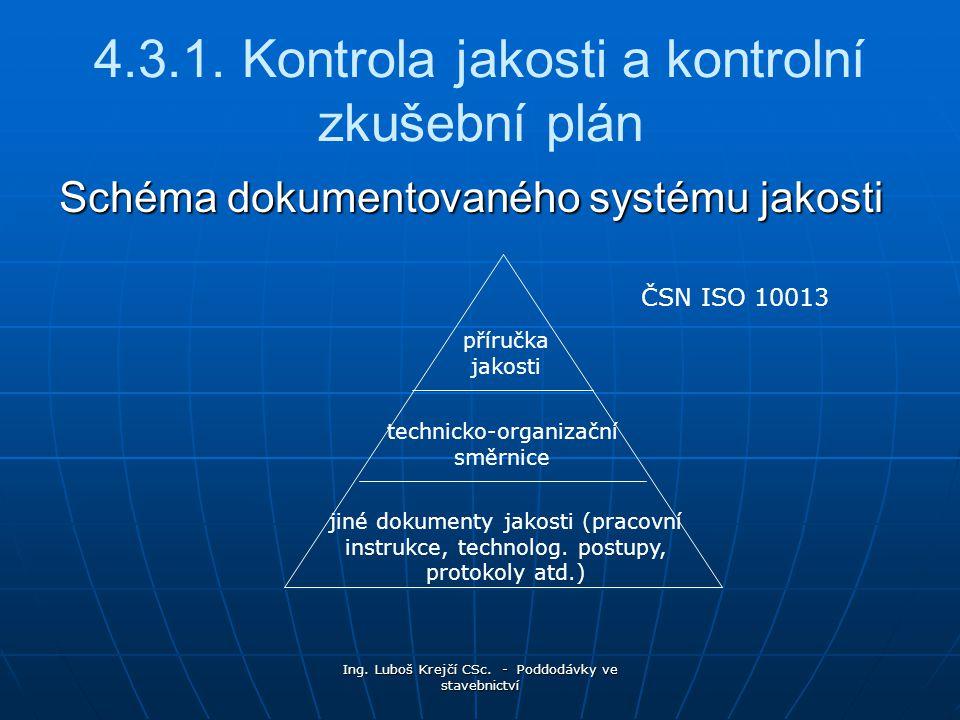 Ing.Luboš Krejčí CSc. - Poddodávky ve stavebnictví 4.3.1.