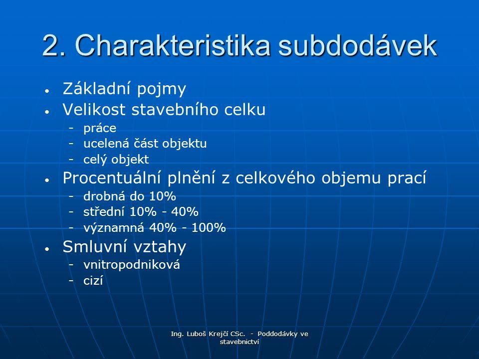 Ing.Luboš Krejčí CSc. - Poddodávky ve stavebnictví 2.
