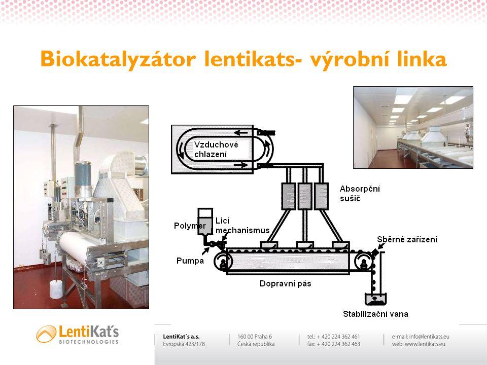 Biokatalyzátor lentikats- výrobní linka