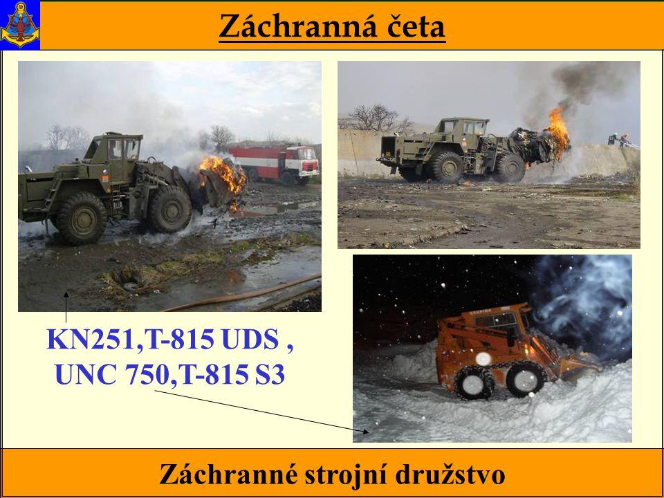 Záchranné strojní družstvo Záchranná četa KN251,T-815 UDS, UNC 750,T-815 S3