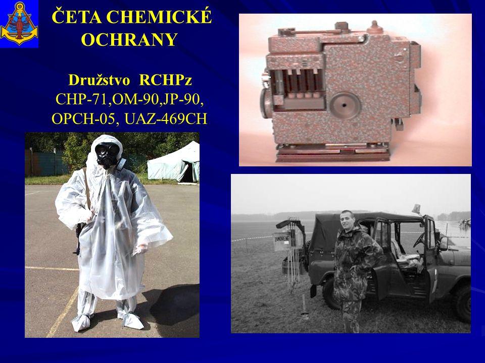 ČETA CHEMICKÉ OCHRANY Družstvo RCHPz CHP-71,OM-90,JP-90, OPCH-05, UAZ-469CH