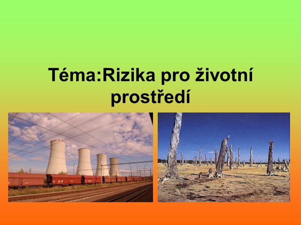 Téma:Rizika pro životní prostředí