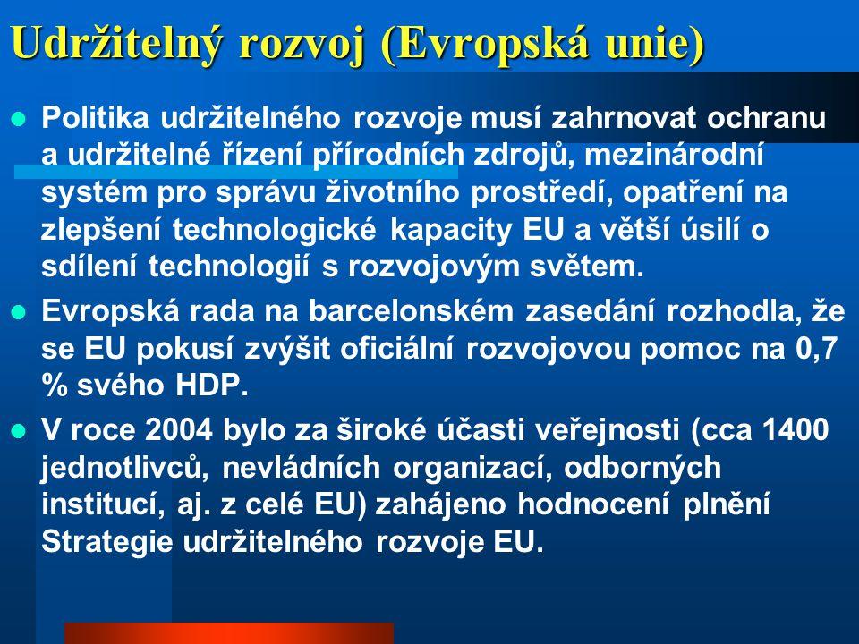 Udržitelný rozvoj (Evropská unie)  Dne 9.2.