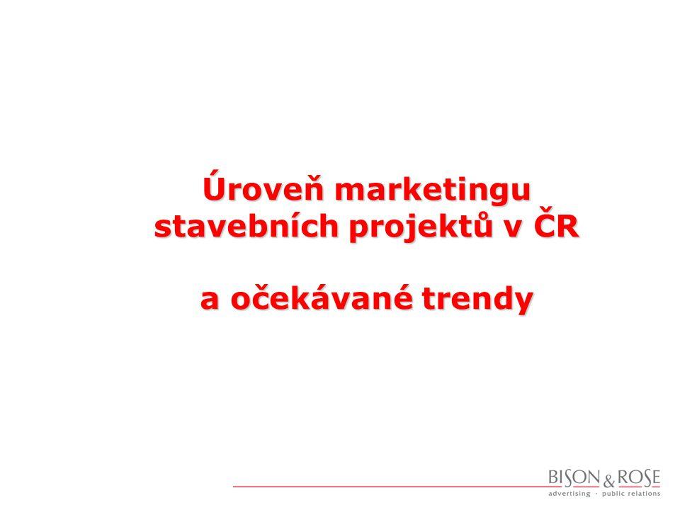 Bytové stavby - marketing  Možnosti marketingu  Budovat značku projektu a autora (developera, architekta)  Nabízet skutečné benefity  Odlišit stavbu od konkurence - najít klíčové sdělení  Přicházet s novými nápady a řešeními  Najít potenciální zákazníky a sdělit jim svou nabídku  Co to vyžaduje  Kvalitní projekt - marketingové řízení od prvotního záměru  Kreativitu marketingu  Znát trh - výzkumy a analýzy  Intenzivní využití nástrojů PR a podlinkové komunikace  Pracovat se stávajícími klienty - osobní doporučení