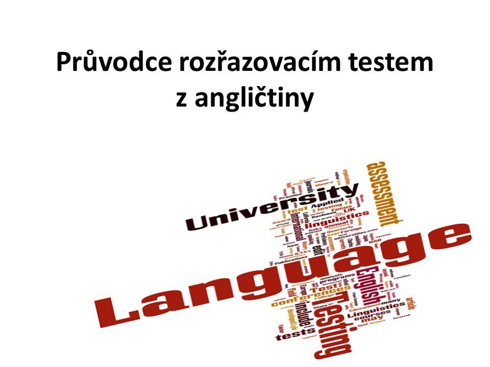 Tato prezentace Vás provede rozřazovacím testem z angličtiny na příkladu testu pro kombinované bakalářské studium na Fakultě zdravotnických studií.